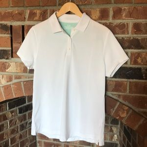 Vineyard vines white and mint performance polo L